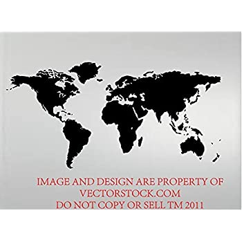 World map wall decal educational decals world map wall sticker global world map atlas vinyl wall decal 12 x 24 gumiabroncs Images