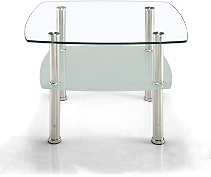Xuyuanjiashop Table Basse Sleek Minimalist Double Table Basse En