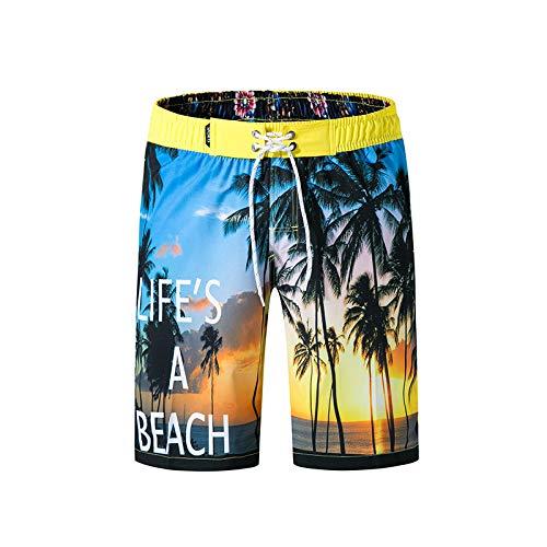 8b7a0f4753 Bookear Men Beach Shorts,Men's Shorts Swim Trunks Quick Dry Beach Surfing  Running Swimming Watershort