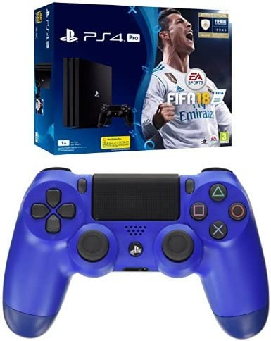 PlayStation 4 Pro (PS4) - Consola de 1 TB + FIFA 18 + Sony - Dualshock 4 V2 Mando Inalámbrico, Color Wave Blue (PS4): Amazon.es: Videojuegos