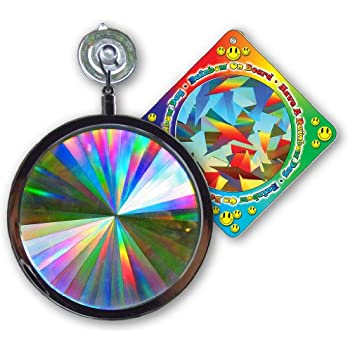 "Suncatcher - Axicon Rainbow Window - Includes Bonus ""Rainbow on Board"" Sun Catcher"