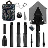 Search : IUNIO Military Portable Folding Shovel 38 inch Length with Pickax Carrying Bag Multitool Spade for Camping Backpacking Entrenching Car Emergency