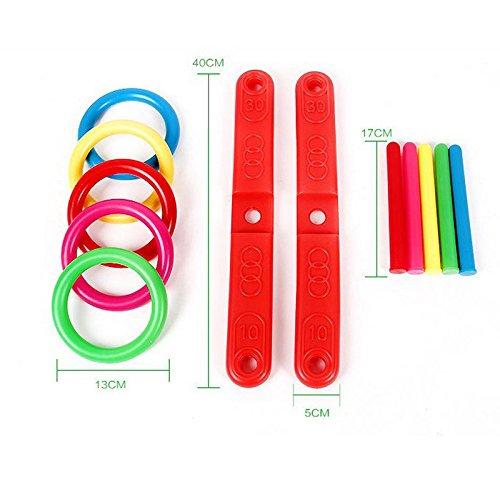 waitFOR Kinderspielzeug Lernspielzeug Baby Spielzeug Toy,Hoop Ring Wurf Kunststoff Ring Wurf Quoits Garten Spiel Pool Spielzeug Outdoor Fun Set NEU