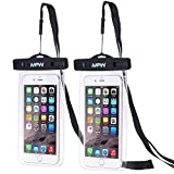MFW Universal Waterproof Phone Case, Cellphone Dry Bag, Pouch for iPhone 7/7plus/6s/6sPlus/SE, Galaxy s7/S8/s6 edge +, Note 5/4, LG G6, HTC Sony Nokia [2-PACK]