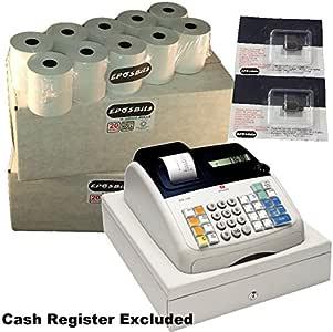 EPOSBITS® Marca 40 Rollos + 2X Tinta para Olivetti ECR7100 ECR 7100 Cash Register: Amazon.es: Oficina y papelería