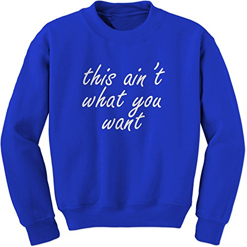 FerociTees Crew King's Dead That Aint What You Want Adult Small Royal - Rb 3119