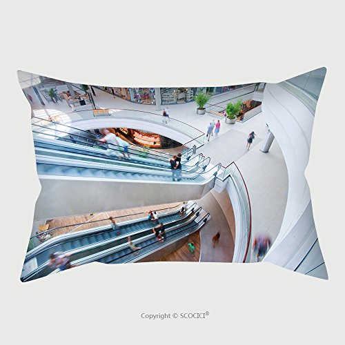 Custom Microfiber Pillowcase Protector Modern Shopping Mall People In Rush 35398765 Pillow Case Covers - Cleveland Shopping Malls