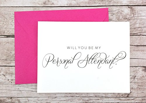 (Will You Be My Personal Attendant Card, Personal Attendant Gift, Wedding Card)