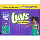 Health & Personal Care : Luvs Ultra Leakguards Diapers, Size 6 (over 35 Lb), 54 Count