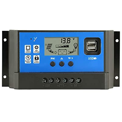 PowMr 60a Charge Controller - Solar Panel Charge Controller 12V 24V, Max 48V 1560W Input Adjustable Parameter LCD Display Current/Capacity and Timer Setting ON/Off with 5V Dual USB : Garden & Outdoor