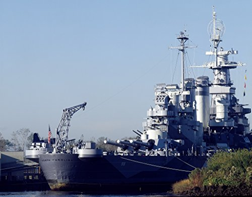 24 x 36 Giclee print of USS North Carolina anchored in the Cape Fear River Wilmington North Carolina r28 [between 1980 and 2006] by Highsmith, Carol - Wilmington Pictures