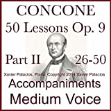 Concone 50 Lessons Op. 9, Part II (26-50) Accompaniments for Medium Voice: more info
