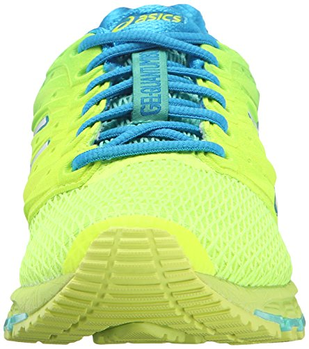 ASICS Women's Gel-Quantum 180 2 running Shoe, Safety Yellow/White/Blue Jewel, 8.5 M US by ASICS (Image #4)
