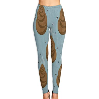 e932632fbefbb4 Amazon.com: Bei Tang Womens Yoga Pants Watercolor Poop Slim Fit Leggings  Fitness Trousers: Clothing