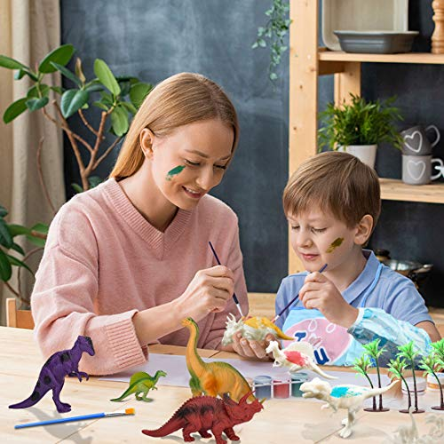 41pcs Dinosaur Painting Kit for Kids Crafts and Arts Set Painting Kit Decorate Your Own Dinosaur Figurines DIY Dinosaur Arts Crafts 3D Painting Dinosaurs Toys for Kids Boys Girls Age3 4 5 6 7Years Old