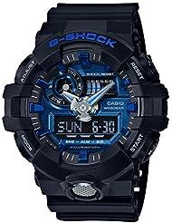 Casio Mens G Shock GA710-1A2 Black Rubber Quartz Sport Watch