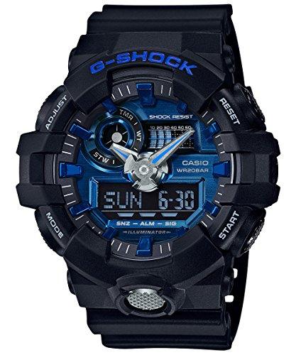 Casio Men's G Shock GA710-1A2 Black Rubber Quartz Sport (G-shock Mens Rubber Watch)