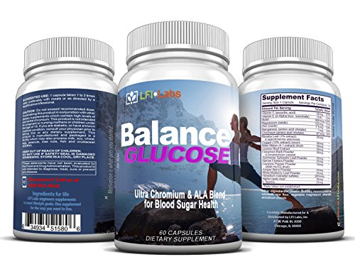 LFI Balance Glucose - Your Cardiologist Recommended 100% Trusted Natural Blood Sugar Management Supplement For Blood Glucose Support and Healthy Weight Loss (Chromium 100 Tabs)