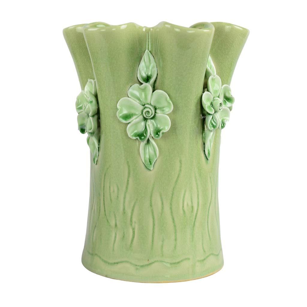 手動セラミックス花瓶リビングルームの装飾現代のシンプルな装飾シミュレーション花フラワーインサーター anQna (サイズ さいず : 2) B07SCYHNL9  2