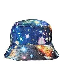 ZLYC Galaxy Bucket Hat Fisherman Outdoor Cap for Men Women, Black