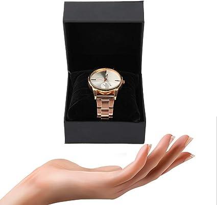 yuyte Soporte de Reloj, Caja de Reloj de PU, Soporte de joyería/Caja de Regalo Reloj/Caja/Soporte de Reloj, Duradero e Impermeable, con una Almohada Suave: Amazon.es: Belleza