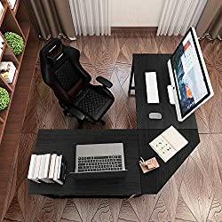 related image of DlandHome L-Shaped Computer Desk 59 inches