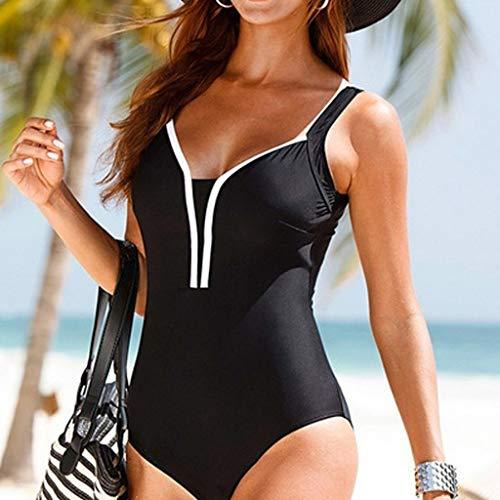 dauerhafte Modellierung AZZRA Damen Ethnic Print Seide Mesh Sexy Bikini Badeanzug Badeanzug Schwarz YGENC4Am