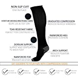 ULTPEAK Compression Socks For Women & Men - 7 Pairs Graduated Compression Stockings For Athletic Sports, Running, Medical, Travel, Pregnancy, Shin Splints