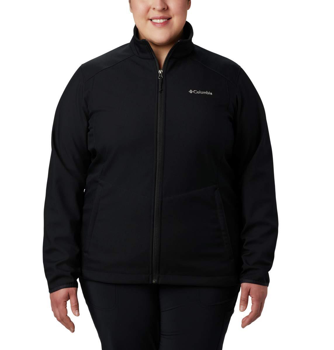 Columbia Women's Plus Size Kruser Ridge Ii Softshell, Black, 2X by Columbia