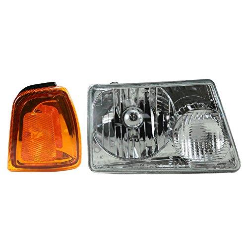 Headlight & Parking Corner Light Right Passenger Side Kit for 01-05 Ford Ranger