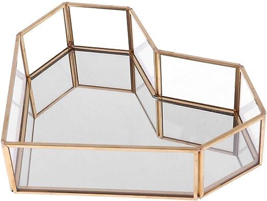 Backbayia C?Ur terrarios Caja joyero de Cristal jardín casa cámara Décor – Maceta para suculenta: Amazon.es: Hogar
