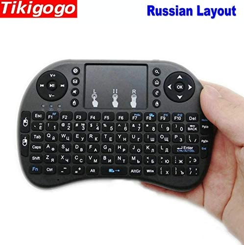 Calvas i8 2.4G Wireless Air Mouse Russian Layout mini Keyboard touchpad remote control for Android Smart TV box for Windows PC