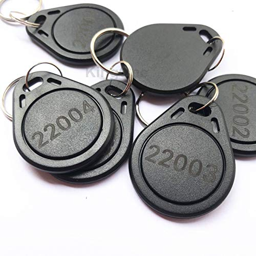 100pcs 125kHz Keyfobs Proximity Fob Works with Prox Key ISOProx 1346 1386 1326 H10301 Format Readers. Works with The vast Majority of Access Control Systems (Black) ()