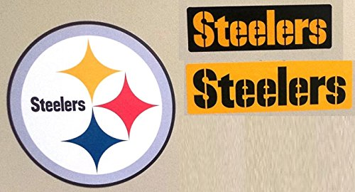 FATHEAD Pittsburgh Steelers Team Set of 3 Official NFL Vinyl Wall Graphics Steelers Logo Signs 8