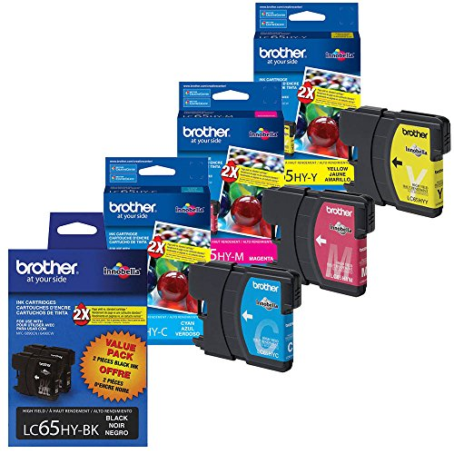 Brother MFC-6490CW Ink Cartridge Set - 2pcs Black with 1 of each Color
