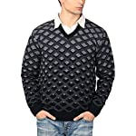 aarbee Men's V-neck Long Sleeve Regular...
