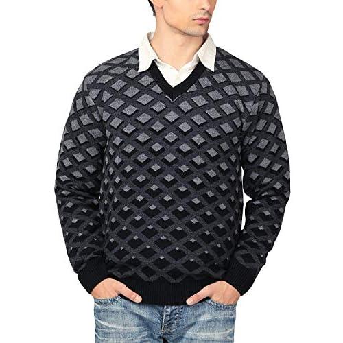 51AWGcUb6jL. SS500  - aarbee Men's V-neck Long Sleeve Regular Fit Sweater