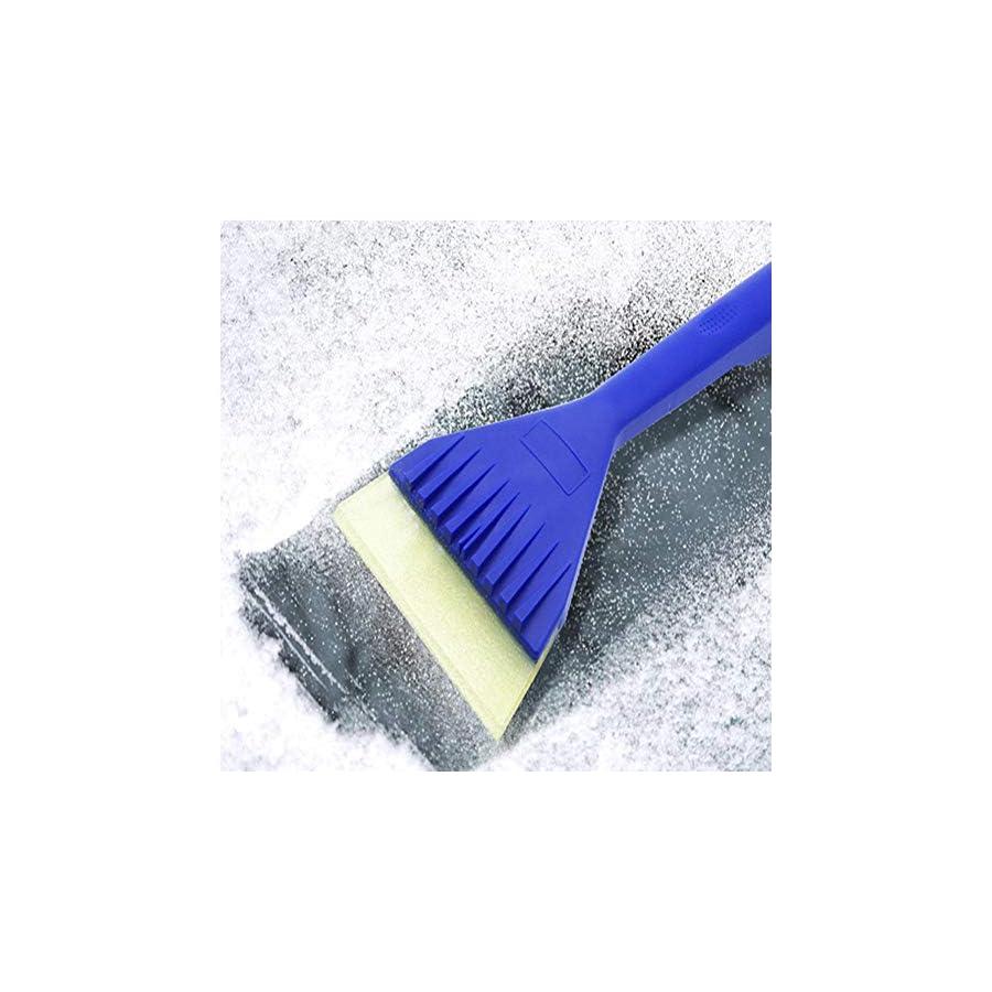 greatown Multi Function Oxford Snow Shovel, Car Windscreen Clear Ice Scraper Snow Shovel Ice Scraper, Blue