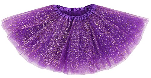 le Princess Ballet Tutu Skirt Dark Purple_sparkling (Dark Purple Tutu)