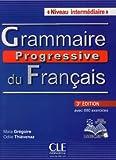 Grammaire progressive du français - Niveau intermédiaire - Livre + CD + Livre-web - 3ème édition
