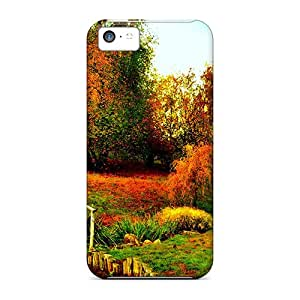 Durable Cases For The Iphone 5c- Eco-friendly Retail Packaging(autumn Park)