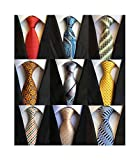 Welen Lot 9 PCS Classic Men's 100% Silk Tie Necktie Woven JACQUARD Neck Ties (Style 03)