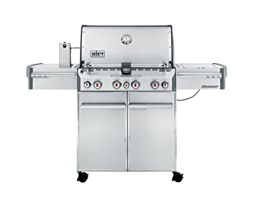 Weber 7170053 Summit S-470 GBS barbacoa de gas 4 quemadores, acero inoxidable