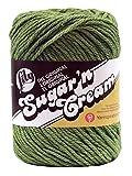 Spinrite Sugar'N Cream Yarn - Solids-Sage Green,2.5 oz / 70.9 g