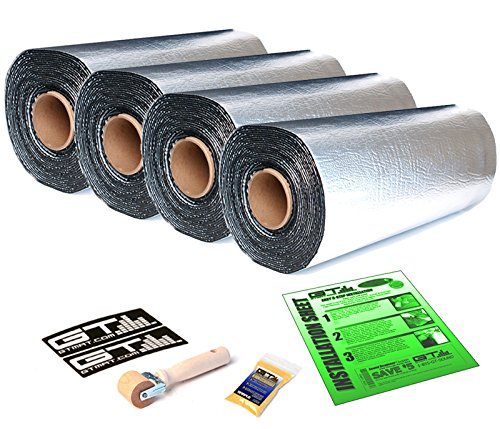 175 sqft Total GTmat Pro 50mil Automotive Car Sound Deadener Road Noise Dampening Insulation Includes: Roller, Degreaser and Instructions by GTMat