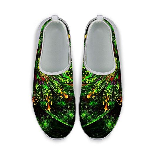 Per Te Disegni Elegante Modello Floreale Casual Maglia Confortevole Donna Scarpe Da Passeggio Verde A
