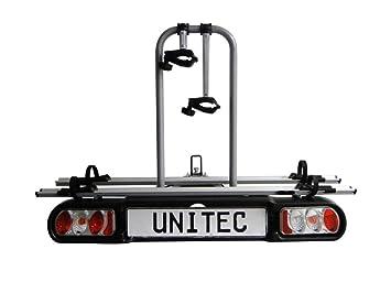 Portabicicletas a la bola Unitec Atlas Evo plegable, aluminio 2 bicicletas