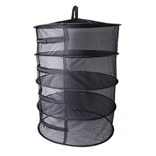 Techinal 7-Inch Collapsible 4-Layer Hanging Drying Rack Net