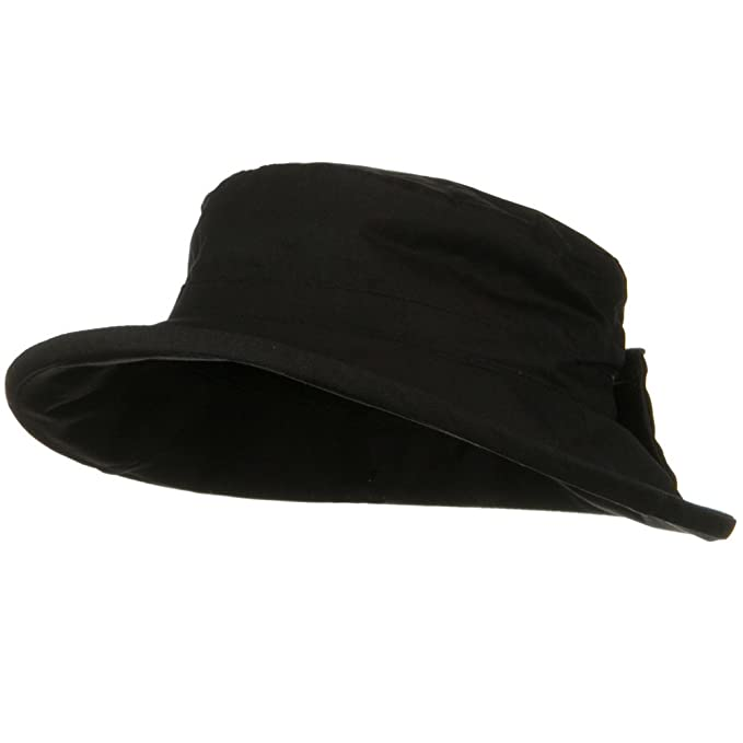 5b770f088e8 Image Unavailable. Image not available for. Color  Waxed Cotton Canvas  Ladies Wide Brim Bucket Hat ...