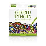 Crayola Colored Pencils, 50 Count, Pre-sharpened, Non Toxic, Art Tools, Assorted Colors, great for Adult Coloring Books and Drawing